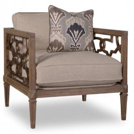 Marni Driftwood Wood Trim Matching Chair