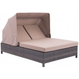 Siesta Key Brown & Beige Double Chaise Lounge