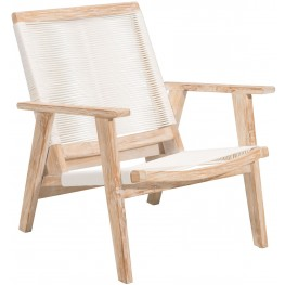 West Port White Wash and White Arm Chair
