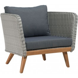 Grace Bay Natural and Gray Arm Chair