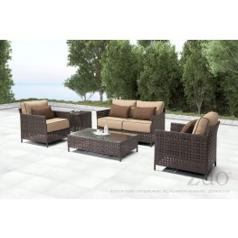 Pinery Brown and Beige Living Room Set