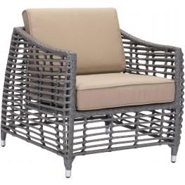 Trek Beach Gray and Beige Arm Chair