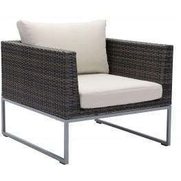 Malibu Brown and Beige Arm Chair
