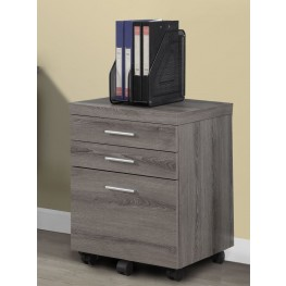 Dark Taupe 3 Drawer Castors File Cabinet