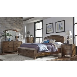 Avalon III Pebble Brown Panel Storage Bedroom Set