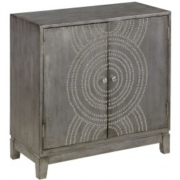 Medlock Metallic Grey 2 Door Cabinet