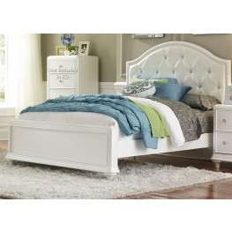 Stardust Iridescent White Full Panel Bed