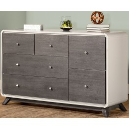 East End Grey 6 Drawer Dresser