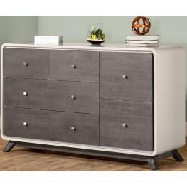 East End Grey 6 Drawer Dresser