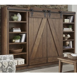 Lancaster II Antique Brown Entertainment Wall Unit
