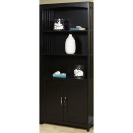 Hampton Bay Black Cherry Door Bookcase