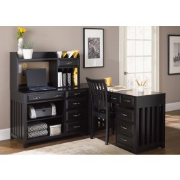Hampton Bay Black Home Office Set