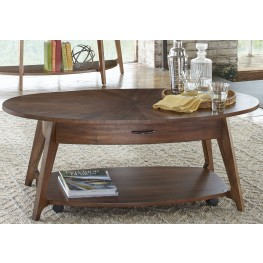 Landon Oval Blonde Cocktail Table