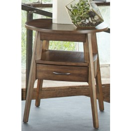 Landon Oval Blonde Oval End Table