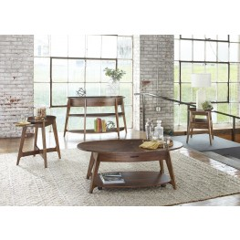 Landon Oval Blonde Occasional Table Set