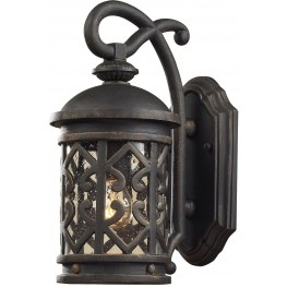 7201EW-71 Tuscany Coast Weathered Charcoal 1 Light Exterior Wall Mount