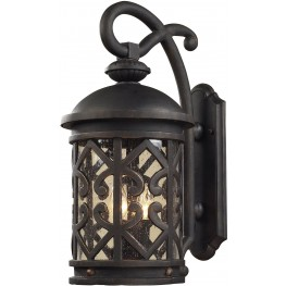 Tuscany Coast Weathered Charcoal 2 Light Exterior Wall Mount