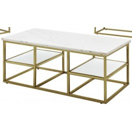 Isabelle Marble Top Coffee Table by Donny Osmond