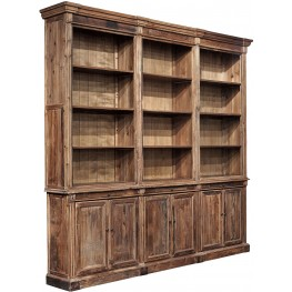 Brown Old Fir Grand Bookcase