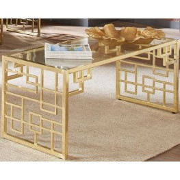 City Chic Brushed Brass Coffee Table by Donny Osmond