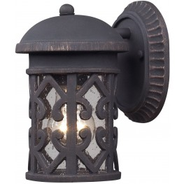 7211EW-71 Tuscany Coast Weathered Charcoal 1 Light Exterior Wall Mount