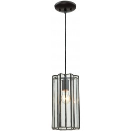 Rotterdam Oil Rubbed Bronze 1 Light Pendant