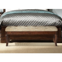 Alexandria Autumn Brown Bed Bench