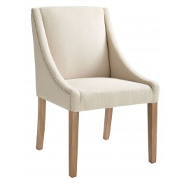 Lucille Linen Fabric Reclaim Dining Chair