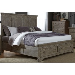 Highlands Gravel King Panel Storage Bed