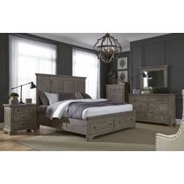Highlands Gravel Panel Storage Bedroom Set