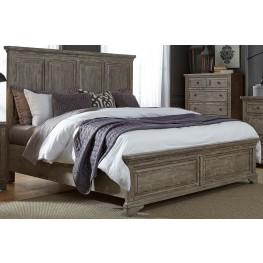 Highlands Gravel King Panel Bed
