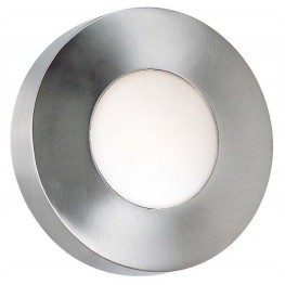 Burst Polished Aluminum Large Round Sconce/Flush