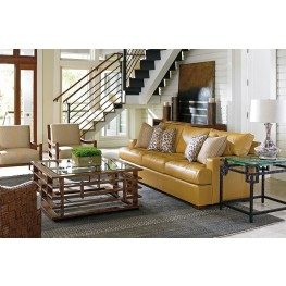 Island Fusion Osaka Leather Living Room Set