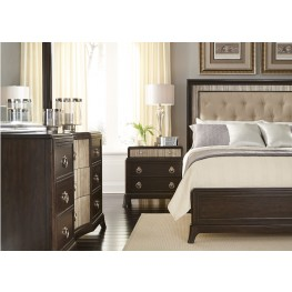 Manhattan Sable and Champagne Panel Bedroom Set