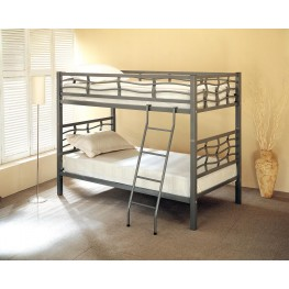 Silver Twin Over Twin Bunkbed (Metal) 7395
