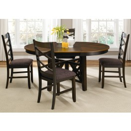 Bistro II Oval Extendable Pedestal Dining Room Set