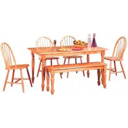 Damen Warm Natural Rectangular Dining Room Set