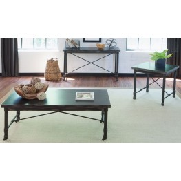 Clayton Dark Charcoal Rub Thru Occasional Table Set
