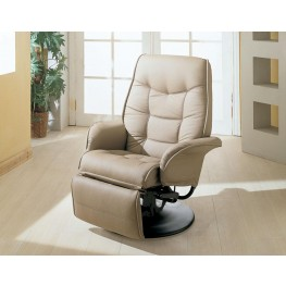 Beige Swivel Chair Recliner 7502