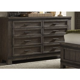 Thornwood Hills Rock Beaten Gray 8 Drawer Dresser