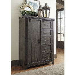Thornwood Hills Rock Beaten Gray Sliding Door Chest