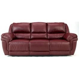 Magician DuraBlend Garnet Reclining Sofa With Table & Massager