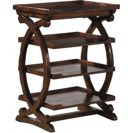 Four Tiered Brown Table