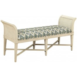 Burnished Ivory Accent Settee