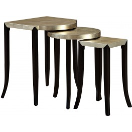 Cassiar Metallic Gold Set of 3 Nesting Accent Tables