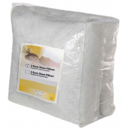 White Large Euro 8 Pack Bed Pillow Insert