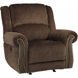 Goodlow Chocolate Power Recliner with Adjustable Headrest