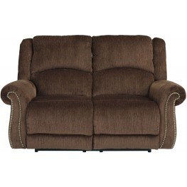 Goodlow Chocolate Power Reclining Loveseat with Adjustable Headrest