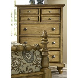 High Country Honey Spice 5 Drawer Chest
