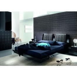 Diamond Black Queen Bed